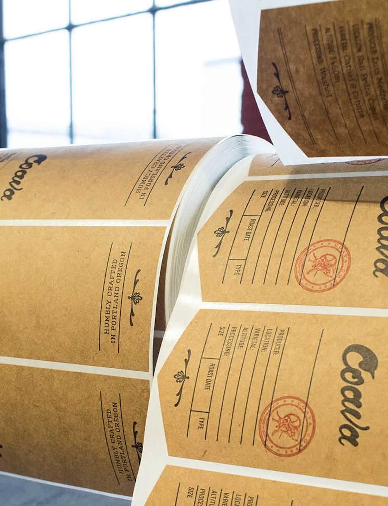 Coava Coffee labels